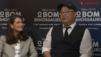 O Bom Dinossauro Entrevista com diretor Peter Sohn e produtora Denise Ream