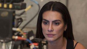 Cleo Pires tem trabalho dobrado interpretando gêmeas no suspense Terapia do Medo. Confira fotos dos bastidores (Exclusivo)