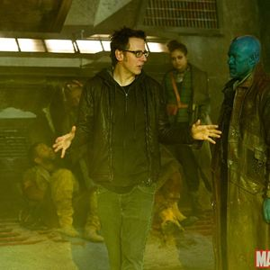 Guardiões da Galáxia : Foto James Gunn, Michael Rooker