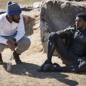 Pantera Negra : Foto Chadwick Boseman, Ryan Coogler