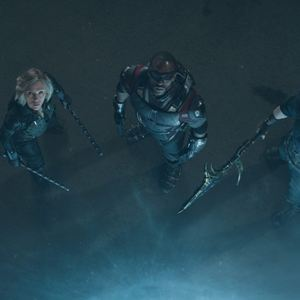 Vingadores: Guerra Infinita : Foto Anthony Mackie, Chris Evans, Scarlett Johansson