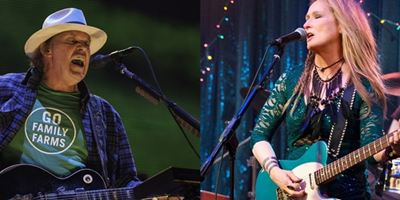 Meryl Streep teve aula com Neil Young para interpretar guitarrista em Ricki and the Flash (vídeo)