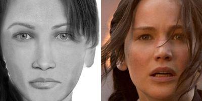 Retratos falados comparam famosos personagens do cinema com suas descrições nos livros