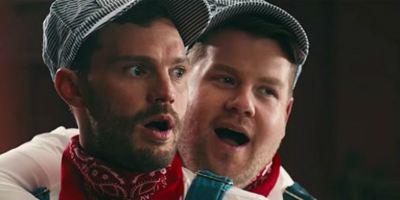 Cinquenta Tons de Liberdade: James Corden mostra a Jamie Dornan seu 'quarto de jogos' em paródia