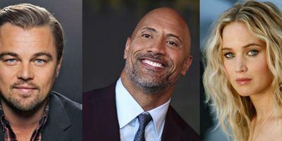 Dwayne Johnson, Leonardo DiCaprio, Jennifer Lawrence e outras estrelas de Hollywood têm seus salários revelados