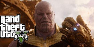 Thanos, vilão de Vingadores: Guerra Infinita, invade videogame GTA V