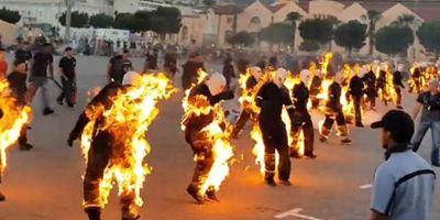 32 dublês ateiam fogo ao próprio corpo para entrarem no Livro dos Recordes