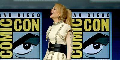 """Comic-Con 2018: Veterana no cinema, Nicole Kidman foi a """"caloura"""" do painel de Aquaman"""