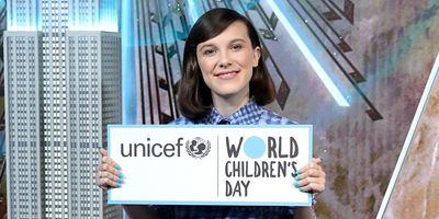 Millie Bobby Brown é nomeada embaixadora da Unicef