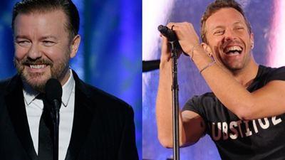 Chris Martin é o produtor da trilha sonora do filme de Ricky Gervais
