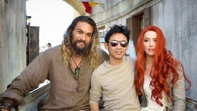 Arthur Curry e Mera curtem um tempo fora d'água em registro dos bastidores de Aquaman