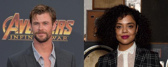 MIB: Chris Hemsworth e Tessa Thompson aparecem caracterizados em primeira imagem do filme