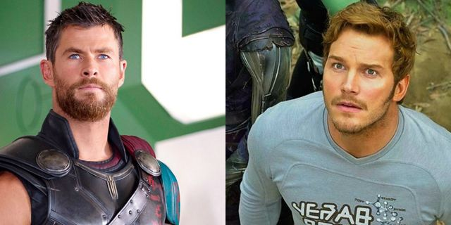 """Chris Hemsworth revela que ficou """"abalado"""" em primeiro encontro com Chris Pratt no set de Vingadores 3"""