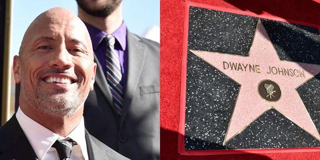 Dwayne Johnson ganha estrela na Calçada da Fama e se emociona