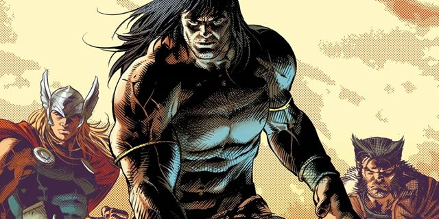 Conan, o Bárbaro enfrenta heróis e vilões da Marvel nos quadrinhos
