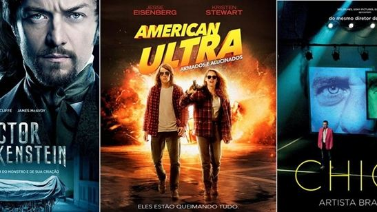 Victor Frankenstein, American Ultra e Chico - Artista Brasileiro são algumas das principais estreias da semana