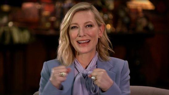 Cate Blanchett fala sobre a bruxa que interpreta no filme de fantasia O Mistério do Relógio na Parede (Exclusivo)
