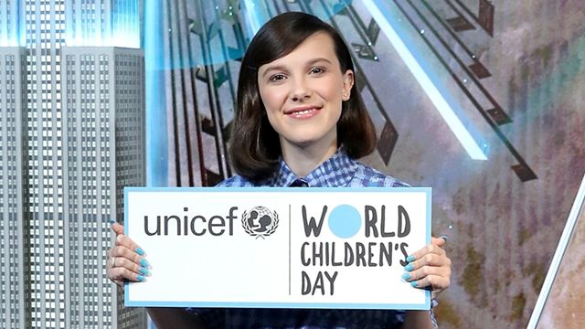Millie Bobby Brown é nomeada embaixadora da Unicef