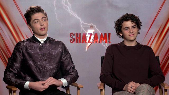 Shazam! Asher Angel e Jack Dylan Grazer revelam que Zachary Levi era o mais criança do set (Entrevista exclusiva)