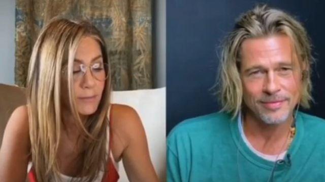 Brad Pitt e Jennifer Aniston se declaram em leitura de filme dos anos 80