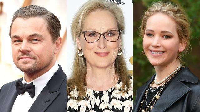Leonardo DiCaprio, Meryl Streep e grande elenco se juntam ao filme de Jennifer Lawrence na Netflix