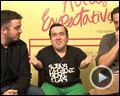 Foto : Altas Expectativas Entrevista (1) Gigante Léo, Pedro Antônio, Álvaro Campos