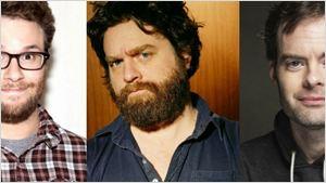Seth Rogen, Zach Galifianakis e Bill Hader vão se perder no espaço em comédia