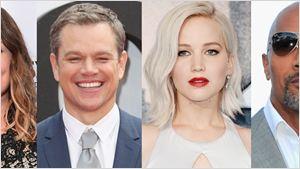 Dwayne Johnson, Melissa McCarthy, Matt Damon e Jennifer Lawrence estão entre as celebridades mais bem pagas do mundo