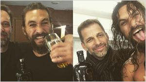 Jason Momoa, Ben Affleck e Zack Snyder comemoram final das gravações de Liga da Justiça