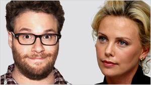 Seth Rogen vai perseguir Charlize Theron na comédia de humor negro Flarsky