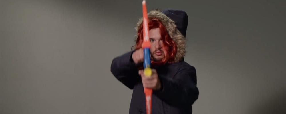 Kit Harington faz testes hilários para outros personagens de Game of Thrones; assista!