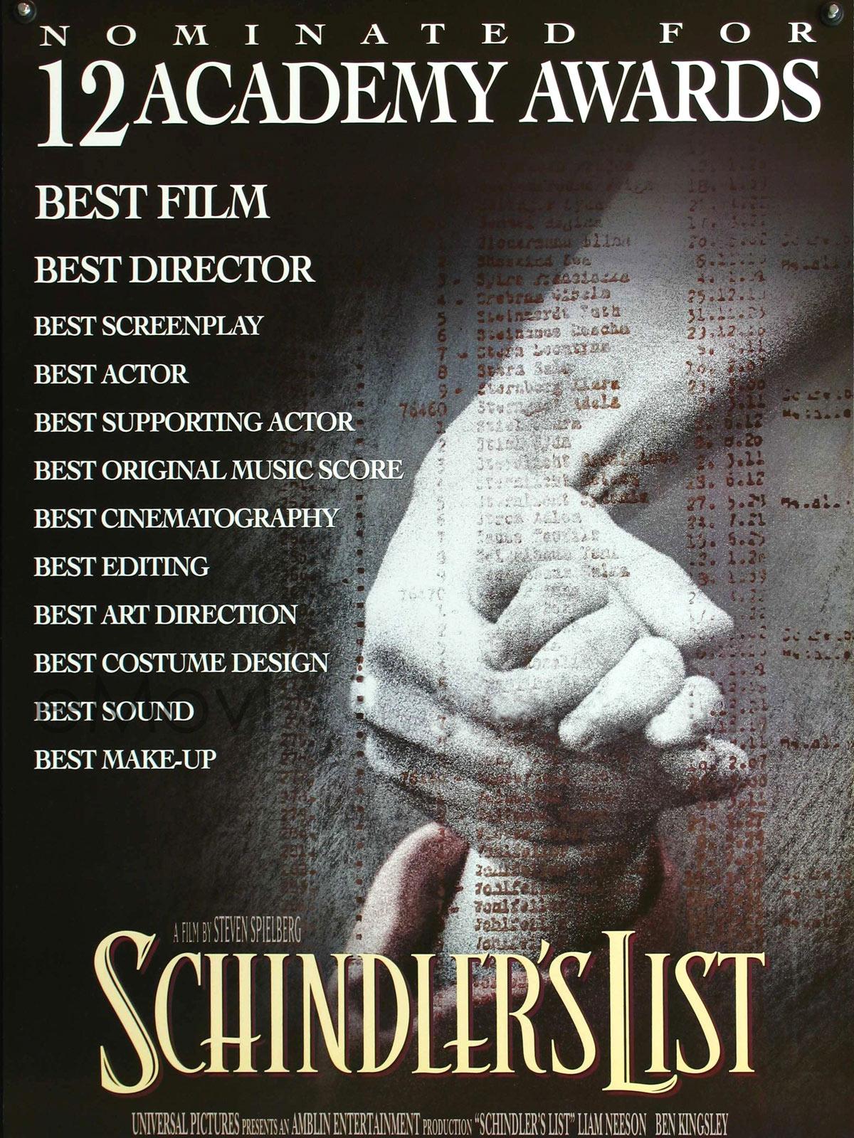 lista de schindler poster poster  adorocinema