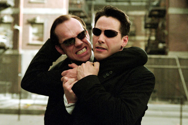 Matrix Reloaded : Foto Hugo Weaving, Keanu Reeves