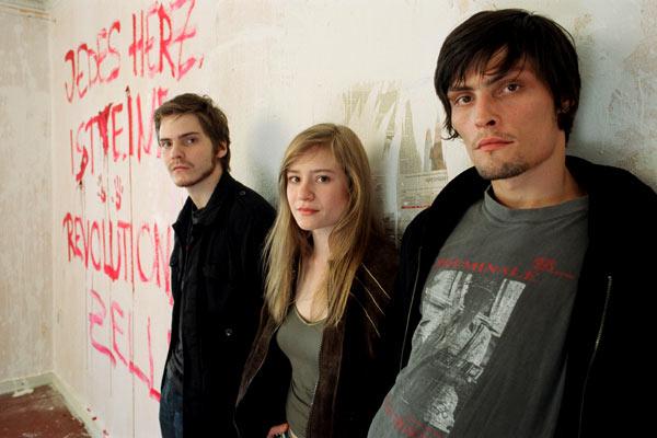 Edukators : Foto Daniel Brühl, Hans Weingartner, Julia Jentsch, Stipe Erceg