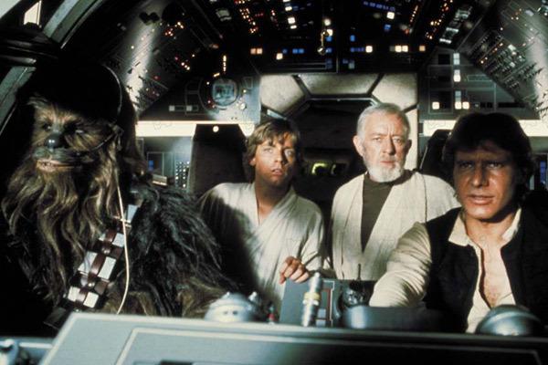 Guerra nas Estrelas : Foto Alec Guinness, Harrison Ford, Mark Hamill, Peter Mayhew