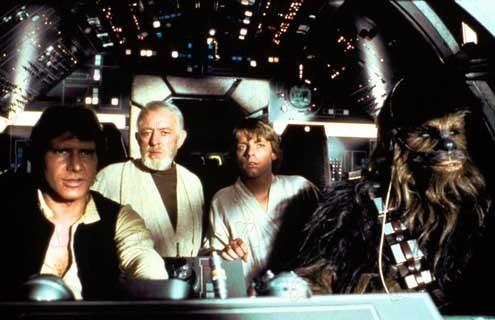 Guerra nas Estrelas : Foto Alec Guinness, Harrison Ford, Mark Hamill