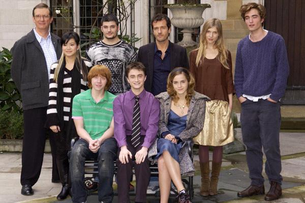 Harry Potter e o Cálice de Fogo : Foto Clémence Poésy, Daniel Radcliffe, David Heyman, Emma Watson, Katie Leung