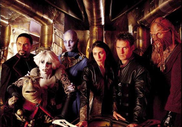 Farscape : Foto Anthony Simcoe, Ben Browder, Claudia Black, Gigi Edgley, Lani Tupu