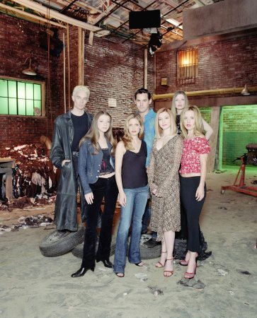 Buffy, a Caça-Vampiros : Foto Alyson Hannigan, Amber Benson, Emma Caulfield, James Marsters, Michelle Trachtenberg