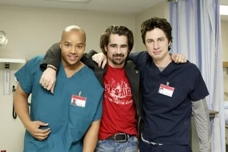Scrubs : Foto Colin Farrell, Donald Faison, Zach Braff