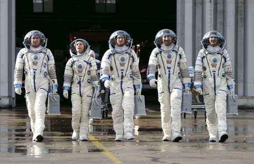 Un ticket pour l'espace : Photo Guillaume Canet, Kad Merad, Marina Foïs, Olivier Baroux