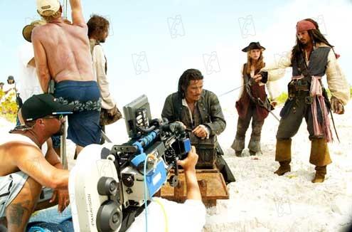 Piratas do Caribe - O Baú da Morte : Foto Johnny Depp, Keira Knightley, Orlando Bloom