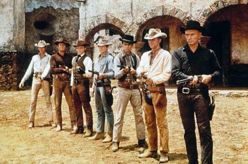 Sete Homens e Um Destino : Foto Brad Dexter, Charles Bronson, James Coburn, John Sturges, Robert Vaughn