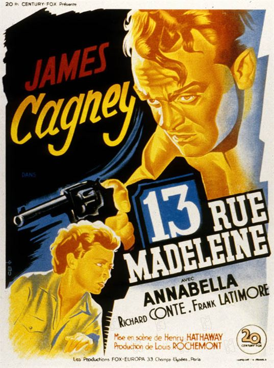 13 Rua Madeleine : Foto Henry Hathaway, James Cagney, Richard Conte