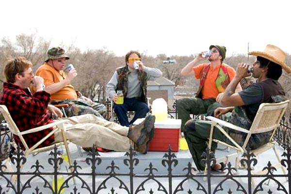 Beerfest : Foto Erik Stolhanske, Jay Chandrasekhar, Kevin Heffernan, Paul Soter, Steve Lemme