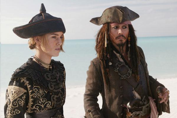 Piratas do Caribe - No Fim do Mundo : Foto Johnny Depp, Keira Knightley