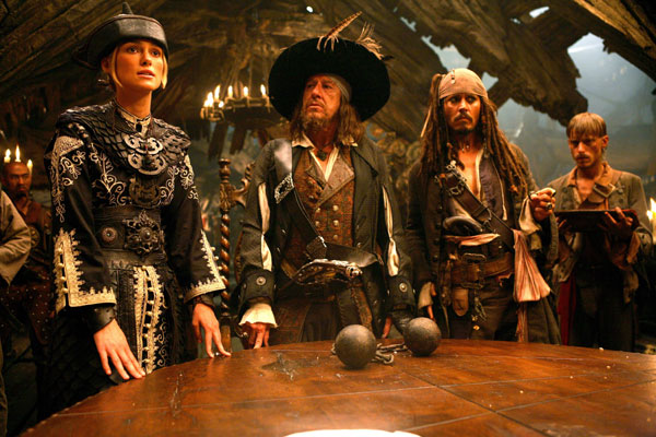 Piratas do Caribe - No Fim do Mundo : Foto Geoffrey Rush, Johnny Depp, Keira Knightley
