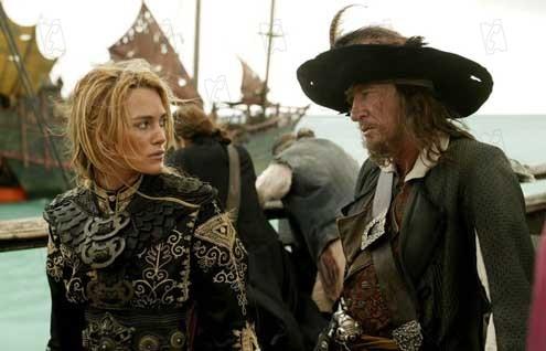 Piratas do Caribe - No Fim do Mundo: Geoffrey Rush, Keira Knightley
