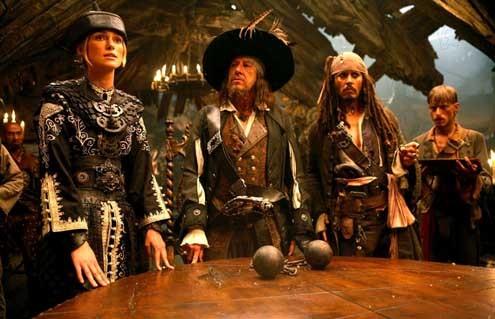 Piratas do Caribe - No Fim do Mundo : Foto Geoffrey Rush, Johnny Depp, Keira Knightley