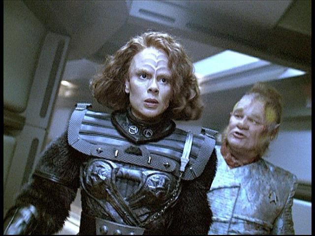 Star Trek: Voyager : Foto Ethan Phillips, Roxann Dawson